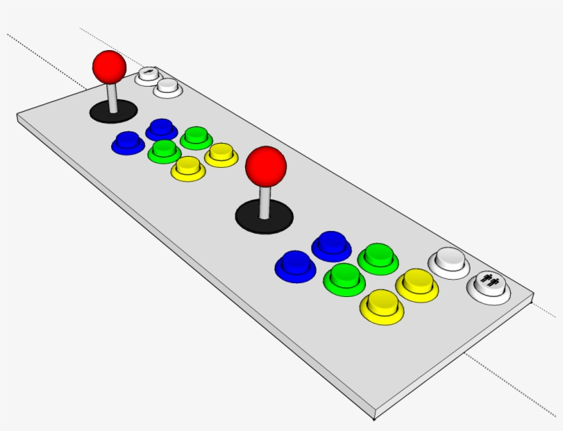 Bartop Arcade Button Layout - Free Transparent PNG Download - PNGkey