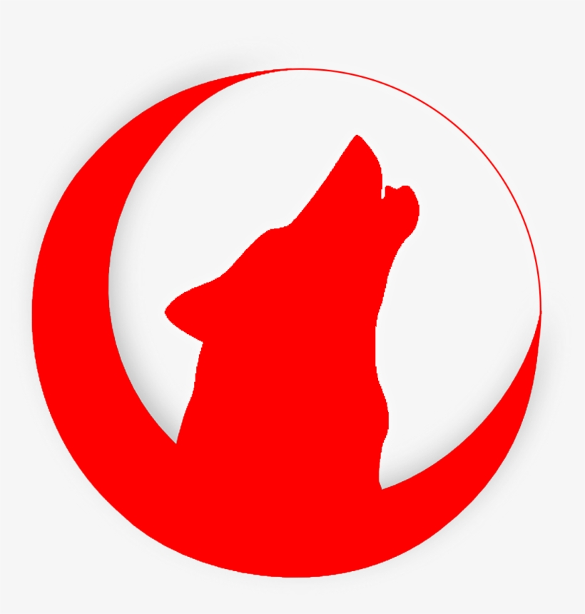 Howling Wolf Emblem - Drawing Wolf Howling Head, transparent png #3387452