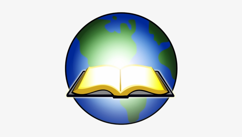 Open Bible Lights Up Globe - Open Bible Clipart Png, transparent png #3390393