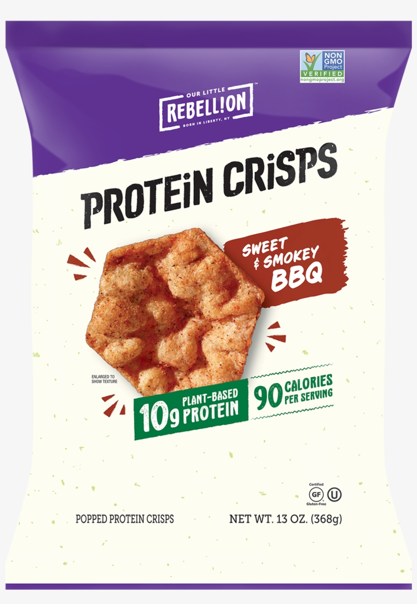 13oz Sweet & Smokey Bbq - Our Little Rebellion Protein Crisps, transparent png #3393310