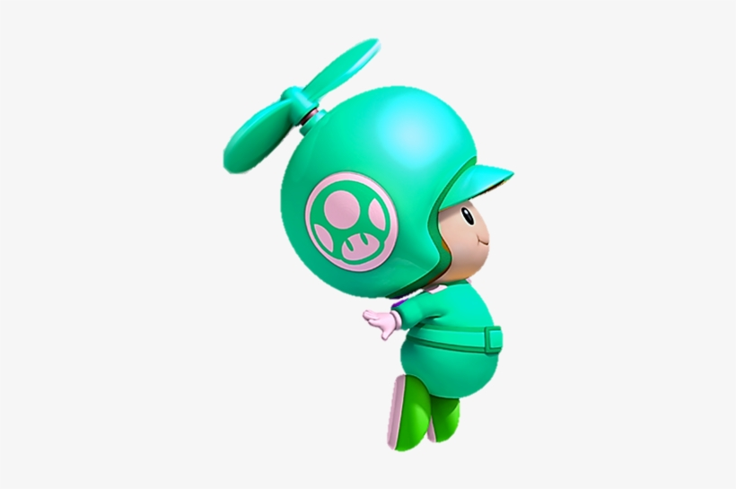 Green Toad Propeller - New Super Mario Bros Wii Blue Toad
