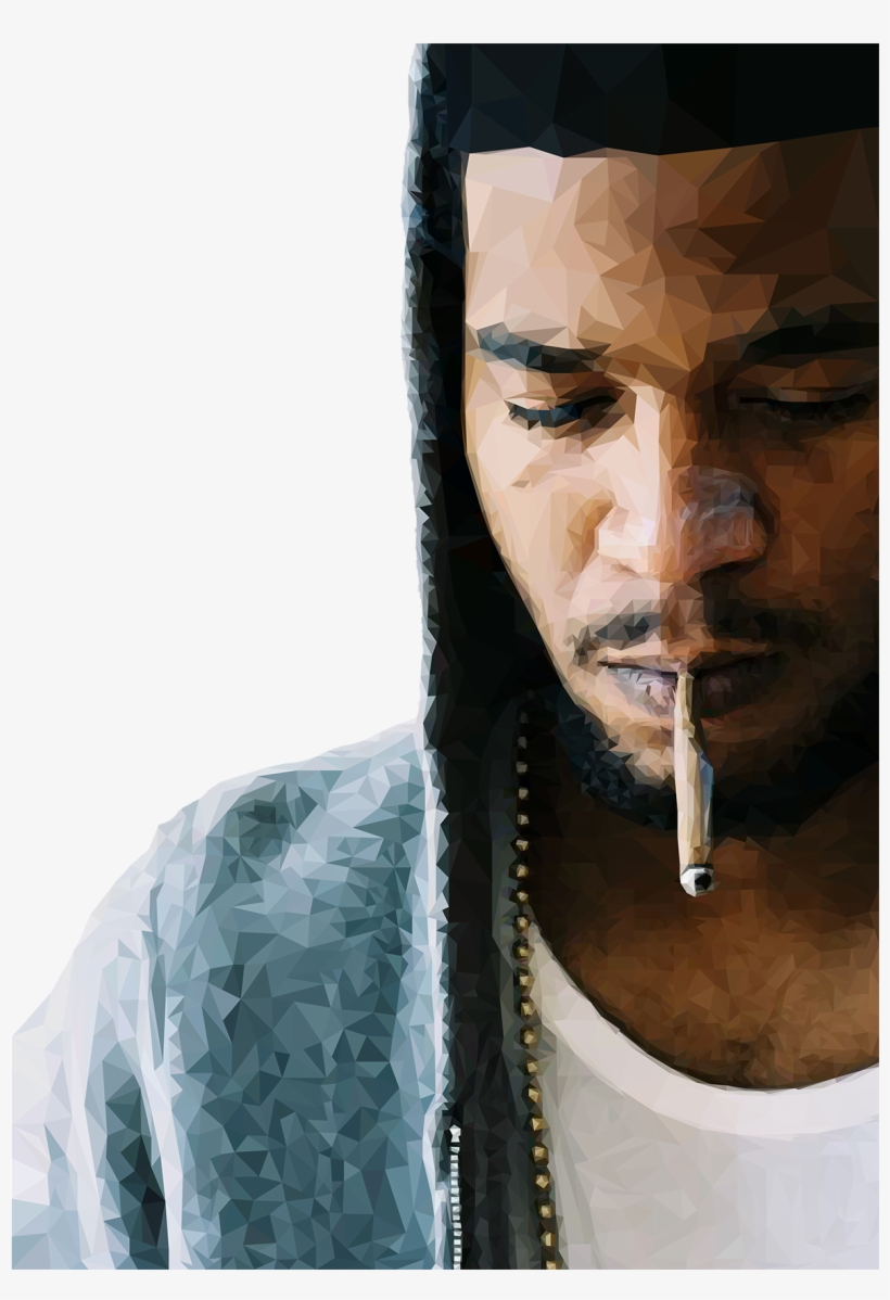 Kid Cudi Smoking A Blunt, transparent png #3398482