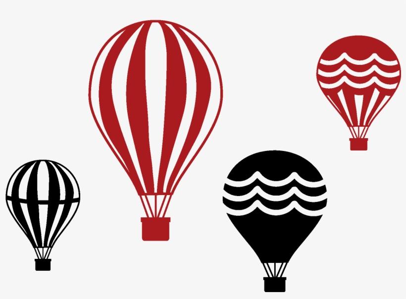Set Of Four Vintage Hot Air Balloons - Hot Air Balloon, transparent png #340333
