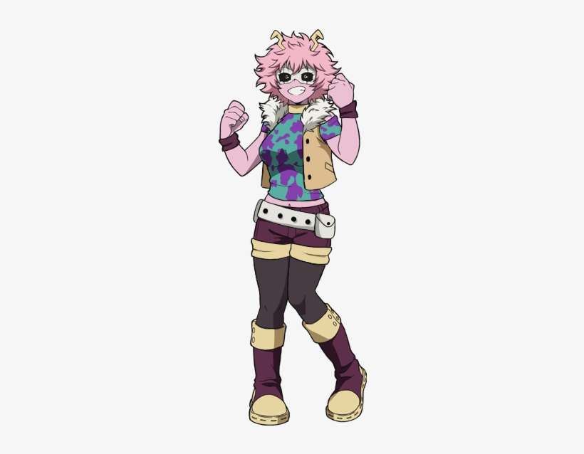 Plus Her With Out Her Vest Thing And Clout Goggles - Boku No Hero Academia Pinkie, transparent png #340395