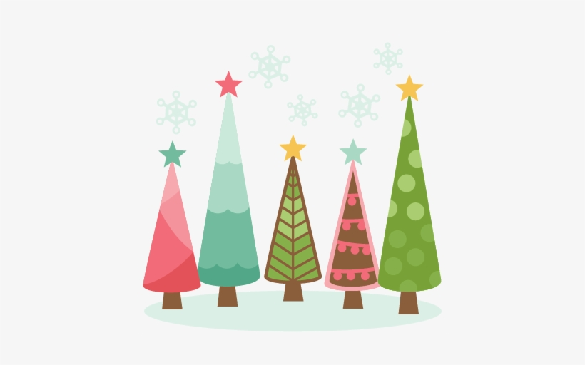 Christmas Trees Scrapbook Clip Art Christmas Cut Outs - Cute Christmas Tree Png, transparent png #341511