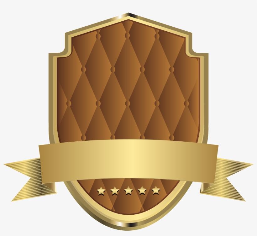 Elegant Label Template Brown Clip Art Png Image - Transparent Shield Logo Template, transparent png #341708