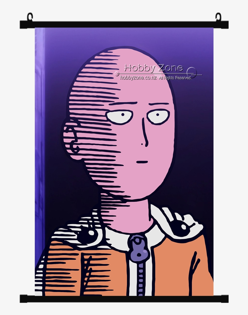 Anime One Punch Man Saitama Wall Scroll - Avatar One Punch Man, transparent png #343366