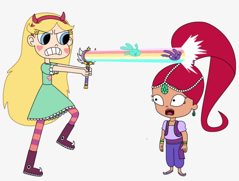 Star Butterfly Vs - Goanimate Shimmer And Shine, transparent png #344585
