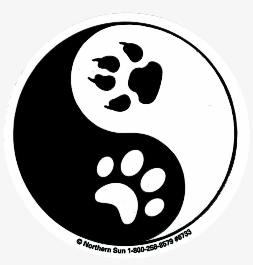 yin yang paw prints  paws yin yang sticker  free