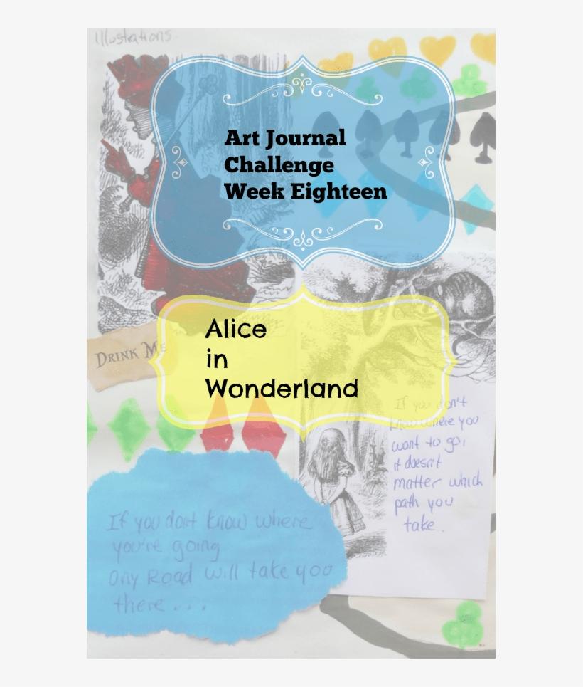 Art Journal Challenge Week Eighteen Alice In Wonderland - Alice In Wonderland Cheshire Cat, transparent png #345303