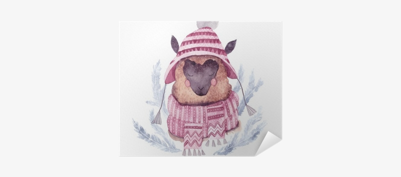 Watercolor Vector Alpaca Illustration - Watercolor Painting, transparent png #345621