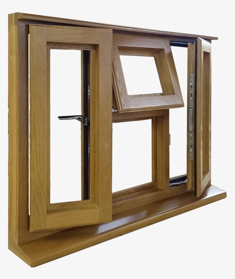 Large Side Oak Window - Window Side View Png, transparent png #345911