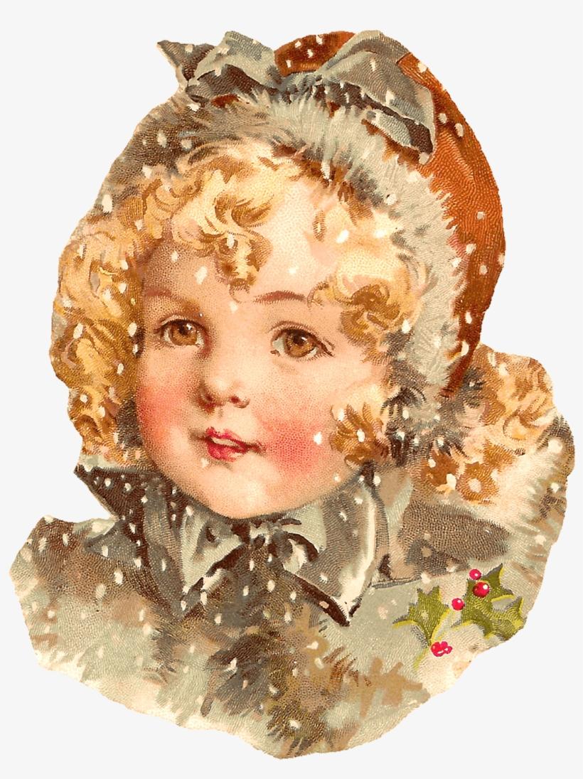 Christmas Vintage Victorian Child - Vintage Child Png, transparent png #347347