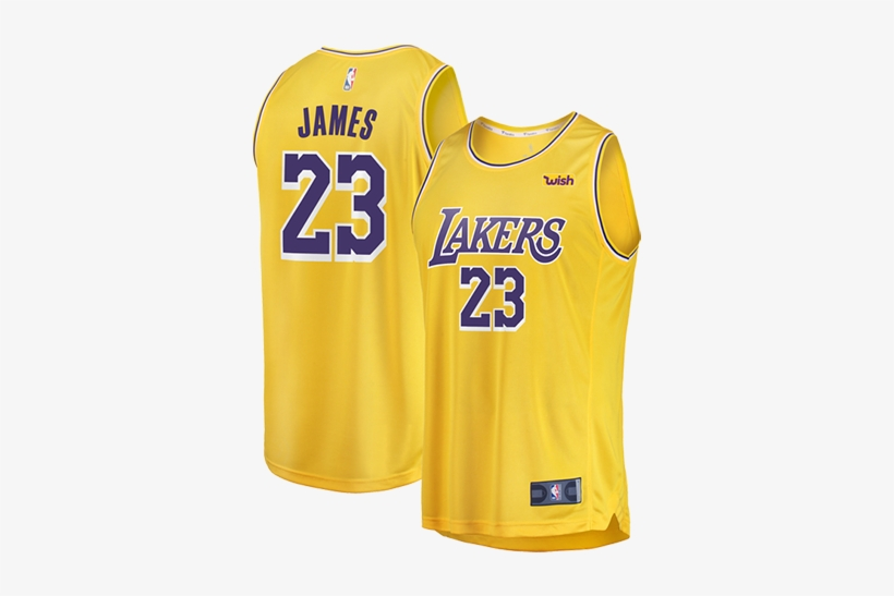 Los Angeles Lakers Lebron James Replica Jersey - Lebron James Lakers Jersey Yellow, transparent png #347963