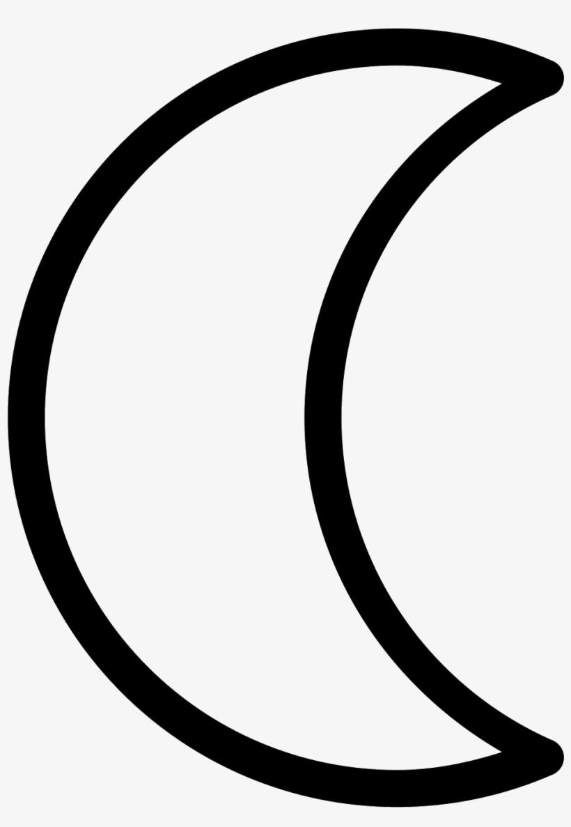Moon Symbol Icon - Moon Astro Symbol - Free Transparent PNG