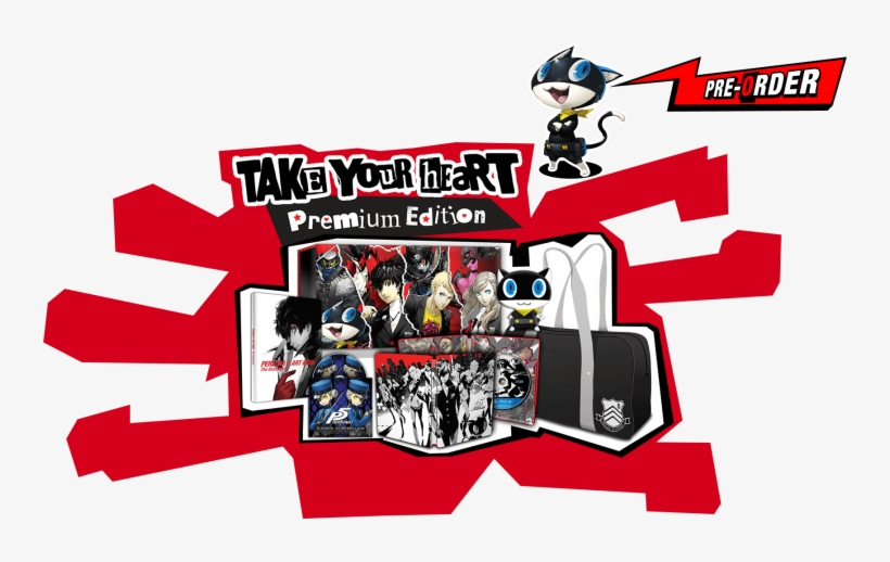 'persona 5' Release Date, Storyline - Persona 5 Take Your Heart Premium Edition [ps4 Game], transparent png #349050
