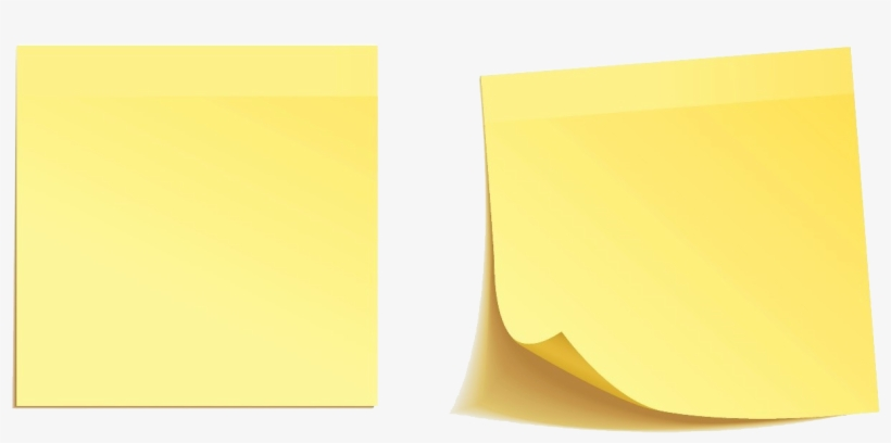 Post Notes Png Png Black And White Library - Post-it Note, transparent png #349279