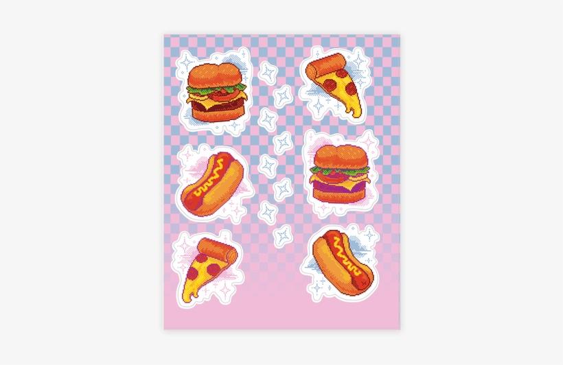 Pixel Junk Food Sticker/decal Sheet - Pixel Junk Food, transparent png #3400412