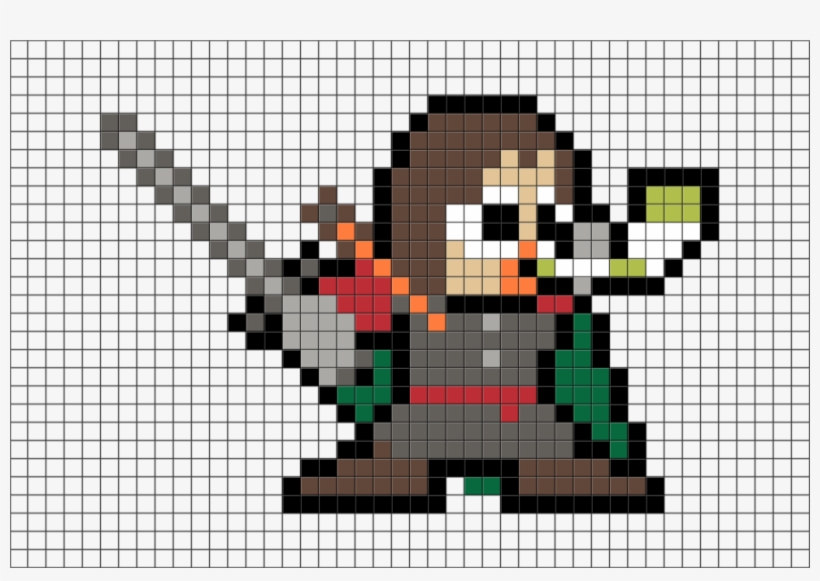Pixel Art Star Wars Chewbacca Free Transparent Png Download Pngkey