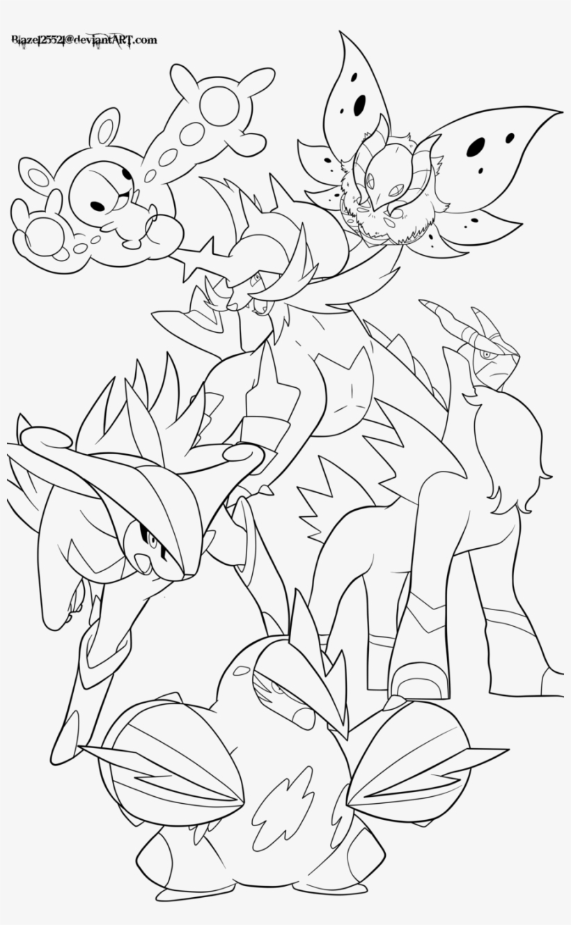 Creative Legendary Pokemon Coloring Pages Legendary Pokemon Lineart Free Transparent Png Download Pngkey