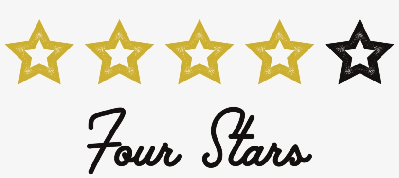 Four Stars - Four Out Of Five Stars, transparent png #3407559