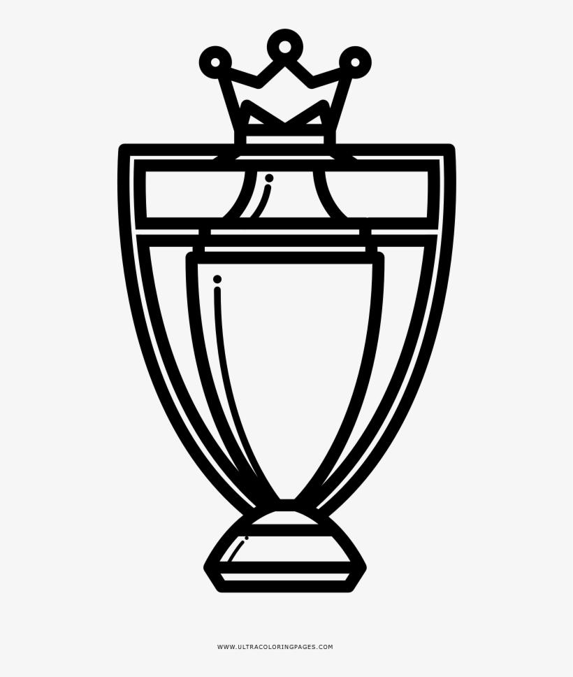 Premier League Trophy Coloring Page Champions League Trophy Icon