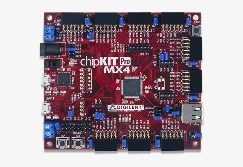 Chipkit Pro Mx4 - Digilent 410-295 Chipkit Pro Mx4 Chipkit Pro Mx4 Board, transparent png #3410939