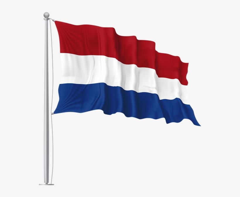 Netherlands Waving Flag Png Image - Flag Day Of Uae, transparent png #3411044