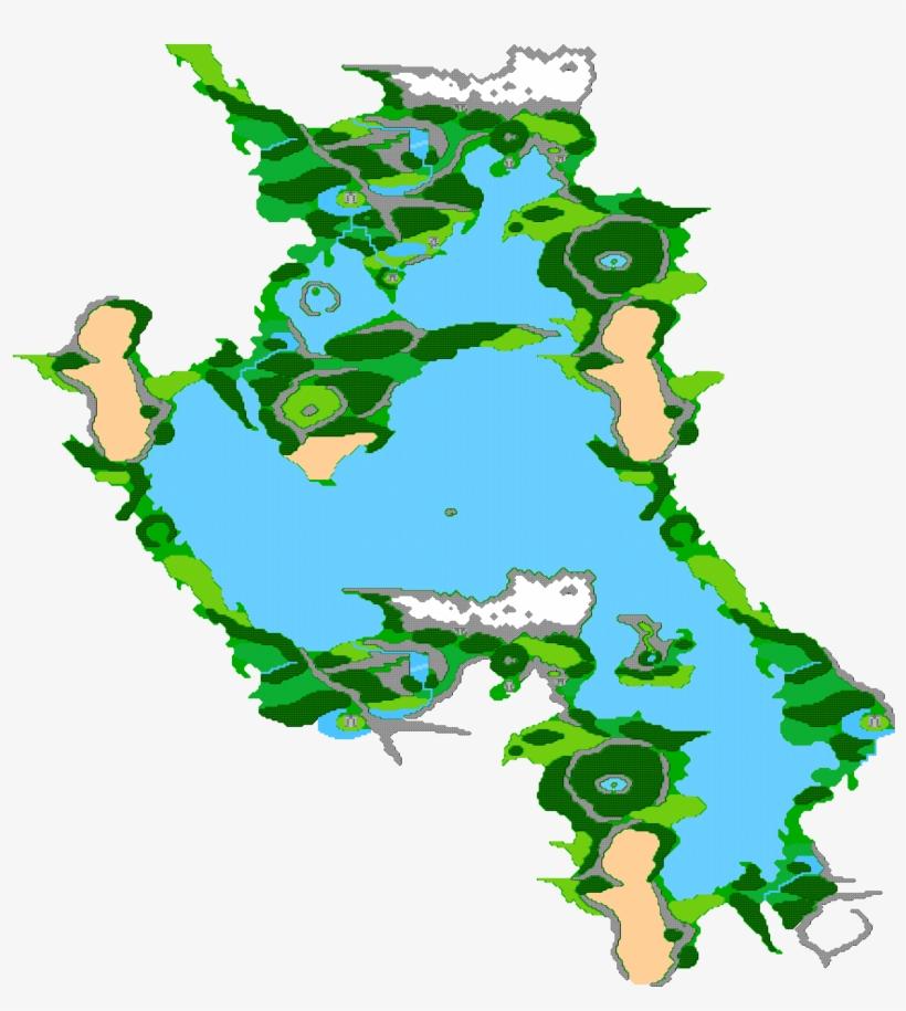 Final Fantasy Nes World Map.Image Ffii Tropical Island Map Png Final Fantasy Wiki Final