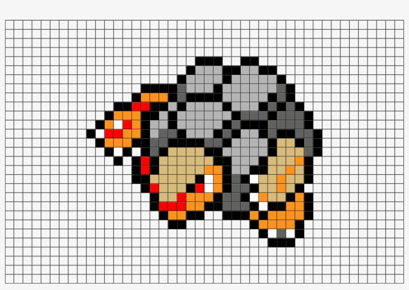 2 Download The Template Pixel Art Pokemon Golem Free