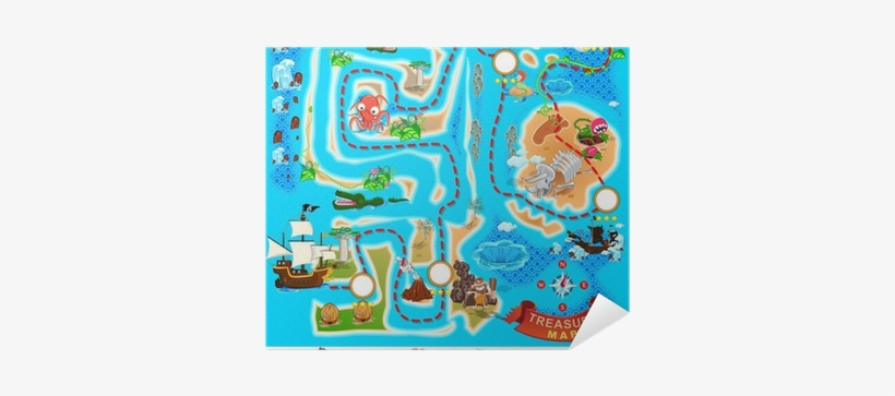 Treasure Map Cartoon - Free Transparent PNG Download - PNGkey