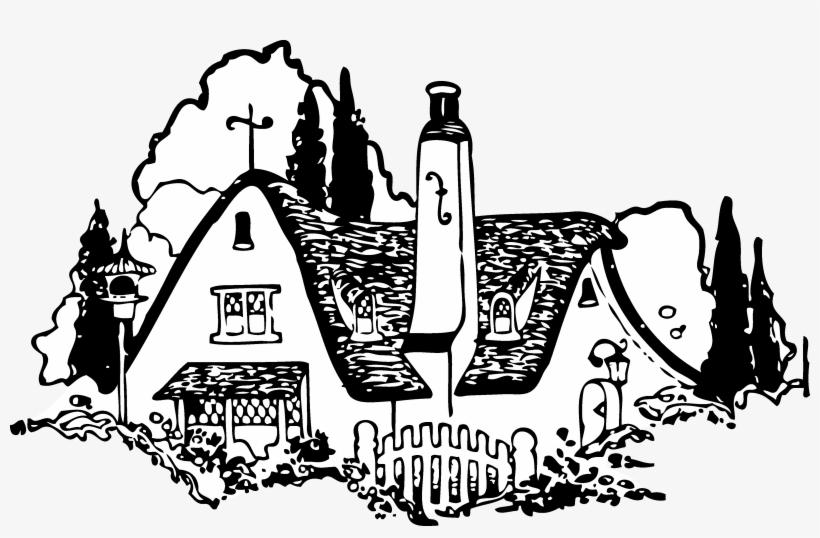 Vintage House Clip Art