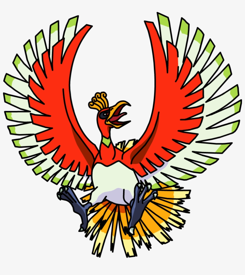 250ho-oh Os Anime 2 - Ho Oh Pokemon Png, transparent png #3422416