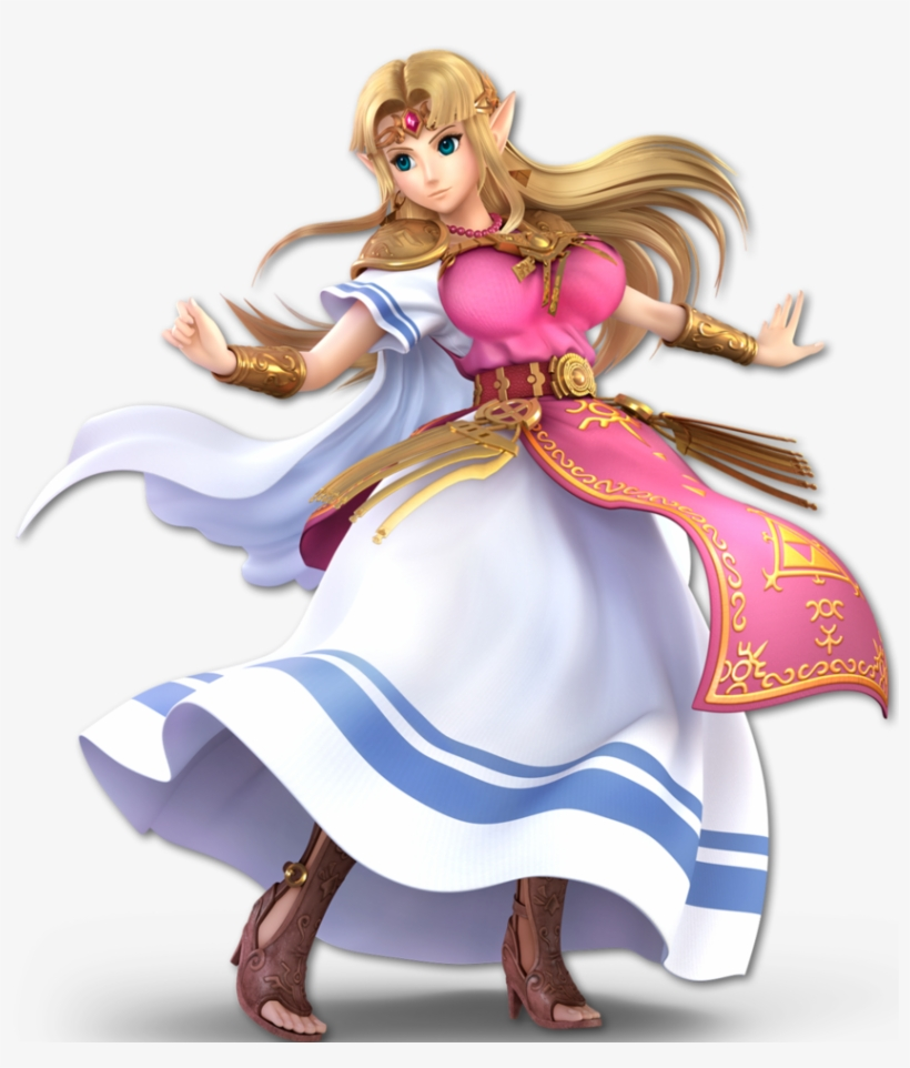 Thicc Zelda Super Smash Bros Ultimate By Thiccerwaifus-dcejwi3 - Super Smash Bros Ultimate Zelda, transparent png #3422917