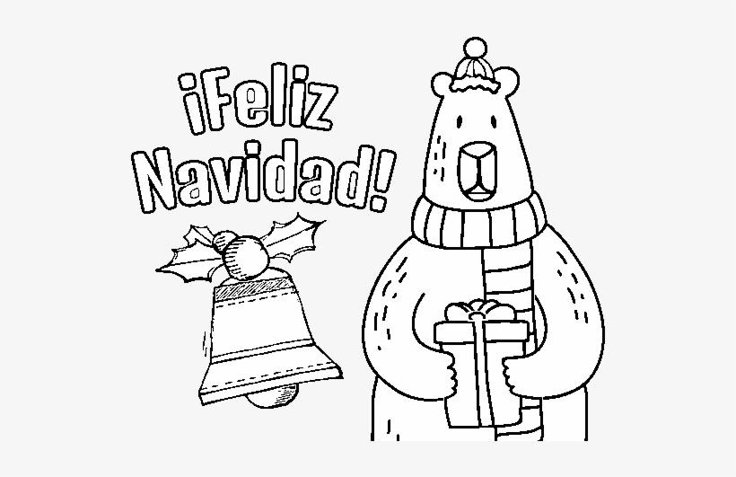 Desenho De Cartao Do Feliz Natal Para Colorir Feliz Navidad
