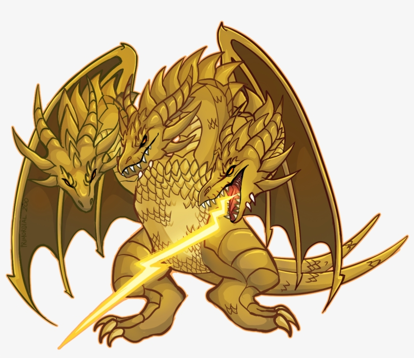 King Ghidorah Sticker - Design - Free Transparent PNG Download - PNGkey