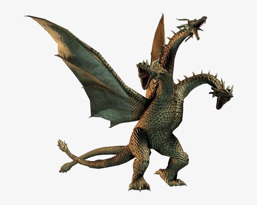 King Ghidorah 2007 - King Ghidorah Godzilla Game, transparent png #3430892