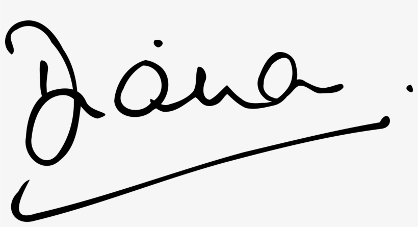 Lady Di's Signature - Diana: I'm Going To Be Me, transparent png #3435223