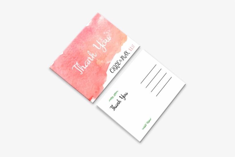 Wedding Thank You Cards - Business Thank You Card Design, transparent png #3435377