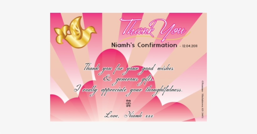 Thank You Card - Confirmation Thank You Cards, transparent png #3436588