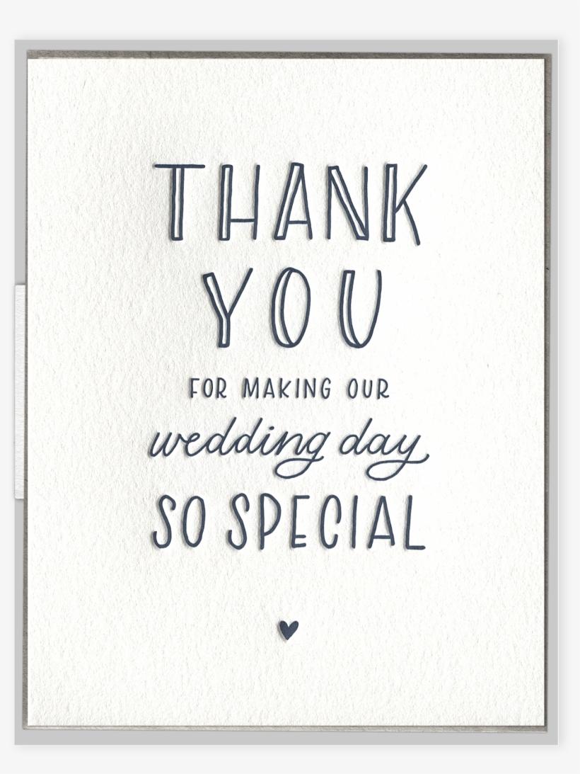 Wedding Day Thank You Wedding - Greeting Card, transparent png #3436691