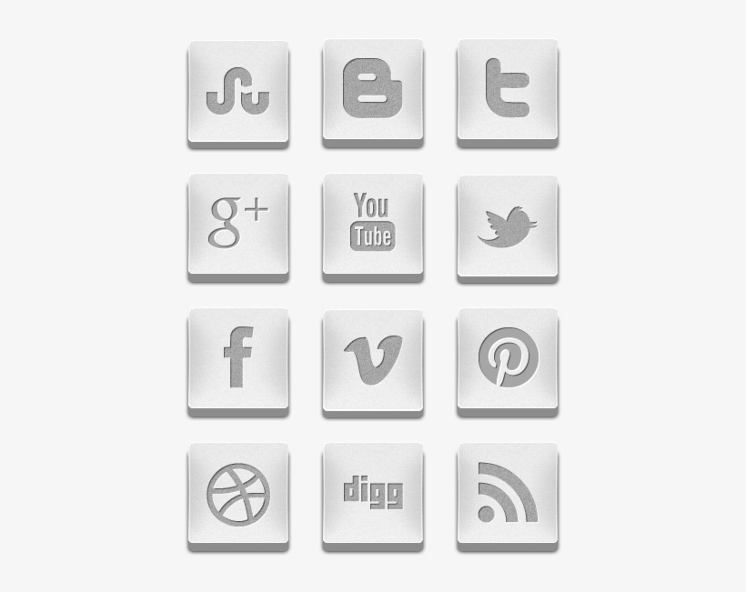 3d Silver Social Media Icons Icon Pack By Creativenerds - Social Icons Pack Silver Png, transparent png #3441305
