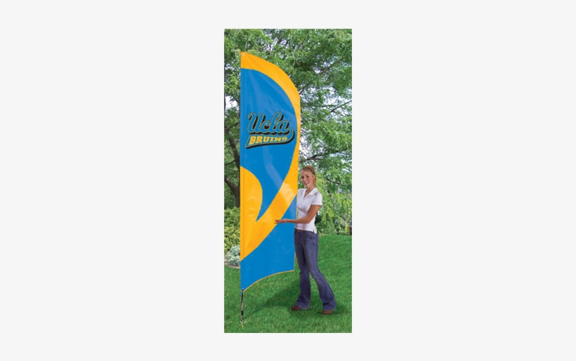 """Ucla Bruins Ncaa Applique & Embroidered 102"""" X 30"""" - Iowa State Tall Feather Flag, transparent png #3447905"""