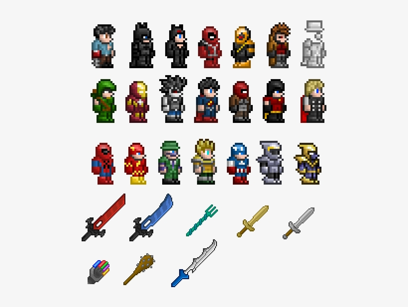 Best Of Sprite Sheet Png - Terraria Character Sprite Sheet, transparent png #3448121