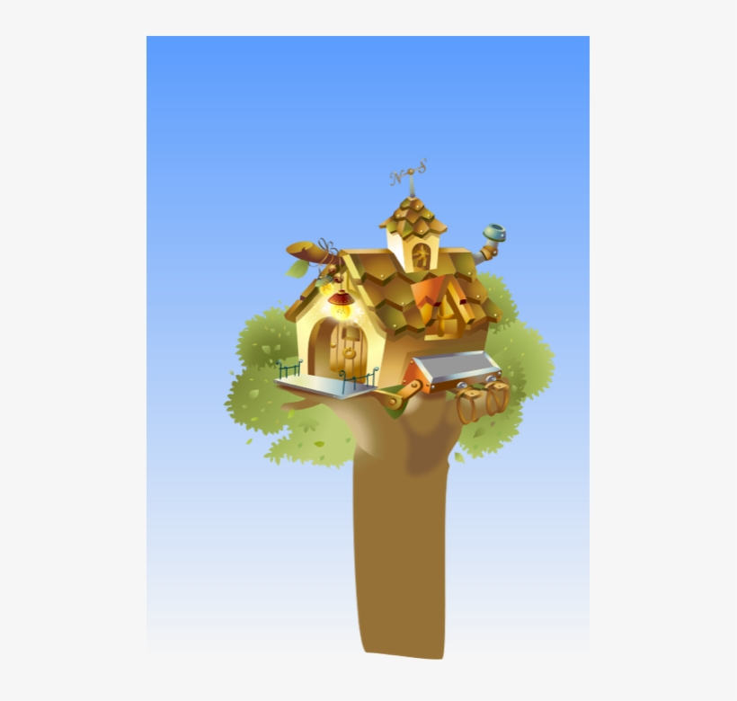 Free Tree Clipart - Tree House Pictures Animated, transparent png #3448913