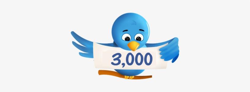 3000 Twitter Followers For For $3 - Twitter Bird, transparent png #3449048