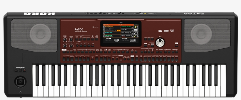 Pa700 Top View - Korg Pa 700 Oriental - Free Transparent PNG