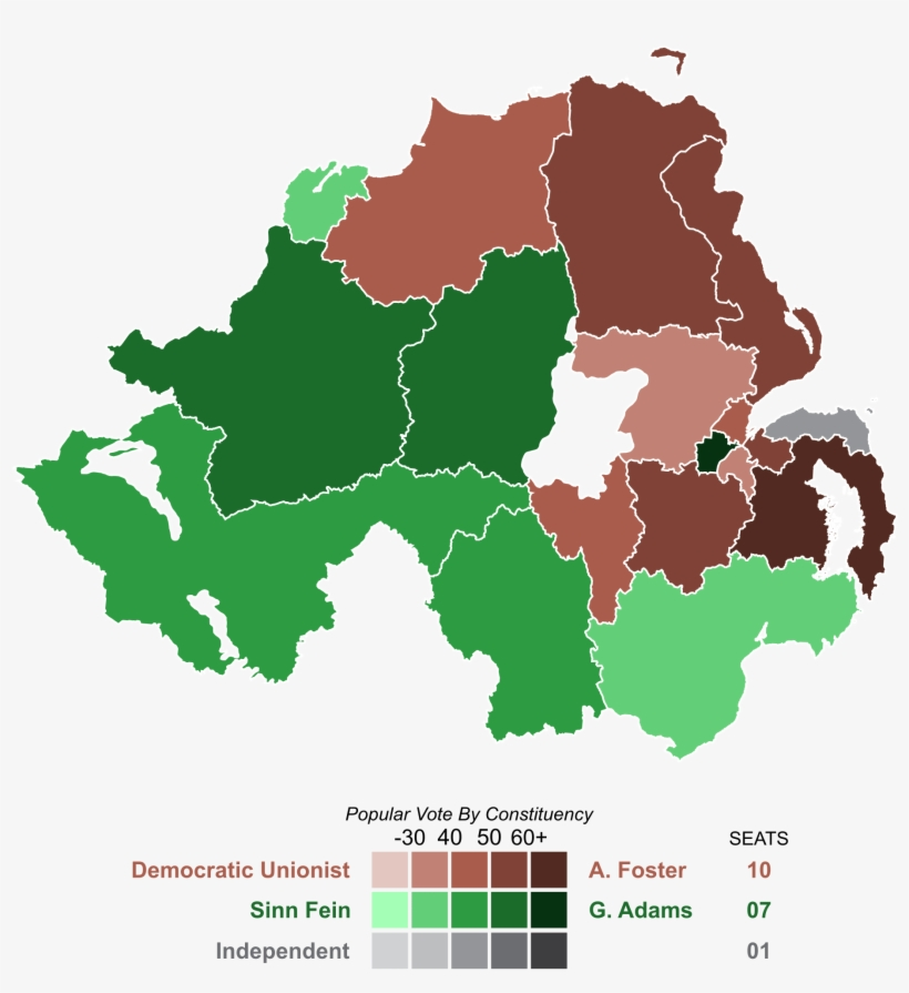 United Kingdom General Election In Northern Ireland - Northern Ireland Election Results 2017, transparent png #3455521