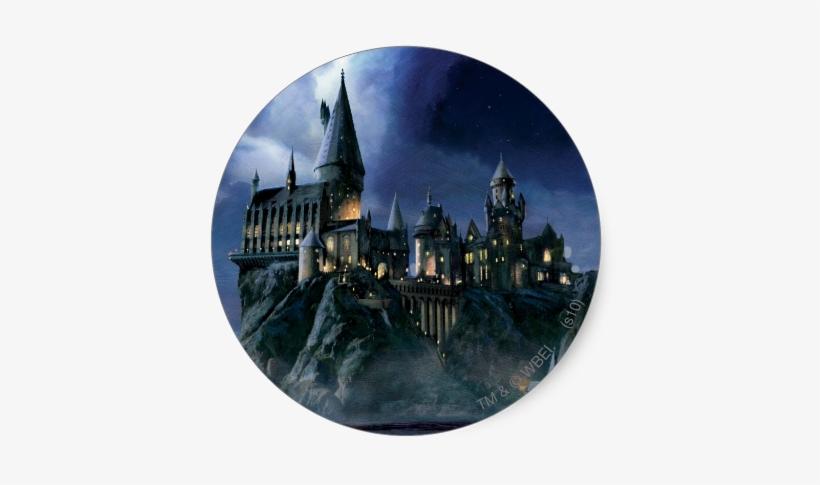 Potter Hogwarts Castle At Night Sticker - Harry Potter Hogwarts Poster, transparent png #3457503