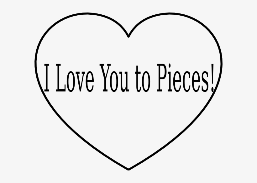 Love You To Pieces Heart Icon Png - Love You To Pieces Sign, transparent png #3458717